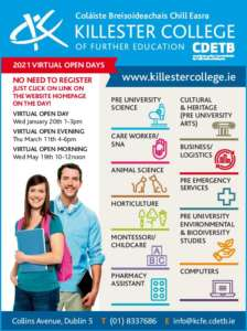 Killester College of Further Education 2021 Open Days